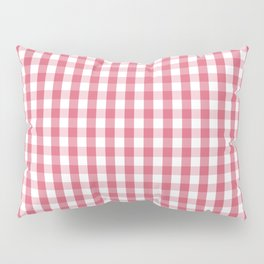 Nantucket Red Gingham Check Plaid Pattern Pillow Sham