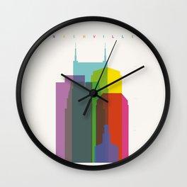 Shapes of Nashville Wall Clock