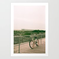 Beach Bicycle Art Print