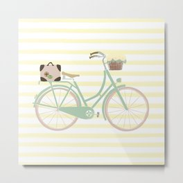 Vintage Summer Bicycle Metal Print