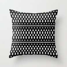 Triangles & Trees Throw Pillow