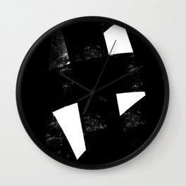 Dark Line - by Kara Peters Wall Clock