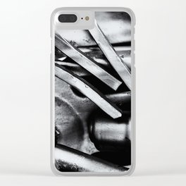 Machine Part BNW Abstract III Poster Print Clear iPhone Case