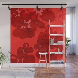 Red Geranium Wall Mural
