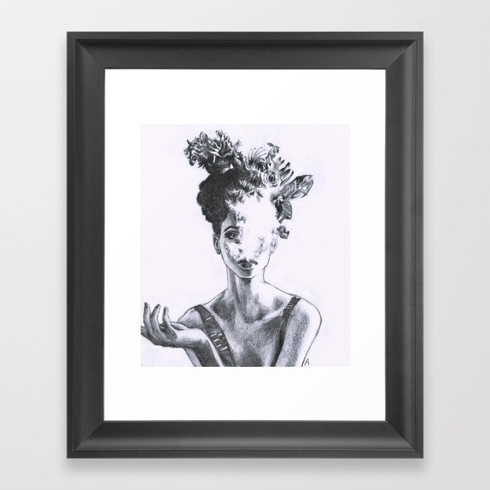 Aesthetic Framed Art Print By Anjacatharina