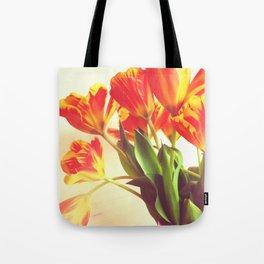 Orange Tulip Bouquet Tote Bag