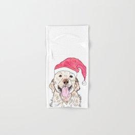 Christmas Golden Retriever Hand & Bath Towel