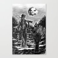 evil dead Canvas Prints featuring Evil Dead by Marc Vuletich
