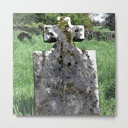 Leaning Headstone Metal Print
