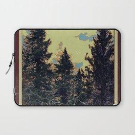 SHABBY CHIC ANTIQUE PHOTO PINE TREES ART Laptop Sleeve