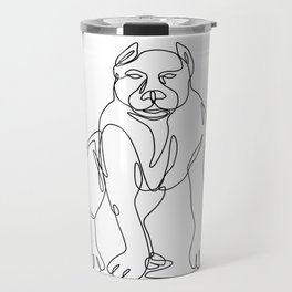 American Bully Continuous Line Travel Mug