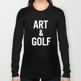 Art & Golf Long Sleeve T-shirt