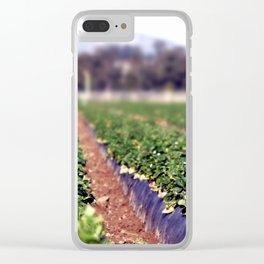 Strawberry Field Clear iPhone Case