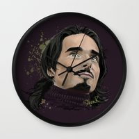 kevin russ Wall Clocks featuring Kevin -BSB by Tish