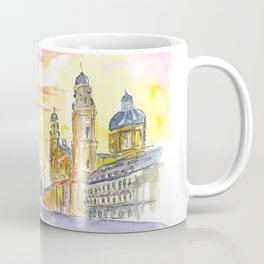 Munich Odeonsplatz with Theatiner Church and Feldherrnhalle Coffee Mug