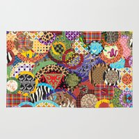 quilt Area & Throw Rugs featuring Quilt Doodle by DesignsByMarly