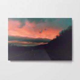 Winter Road Trip Metal Print