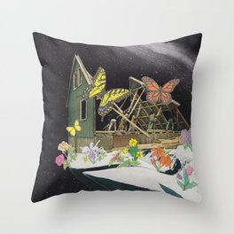 New Home on Mars Throw Pillow