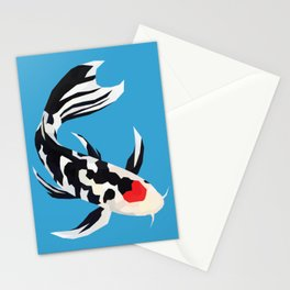 Geo Koi Black & White Stationery Cards