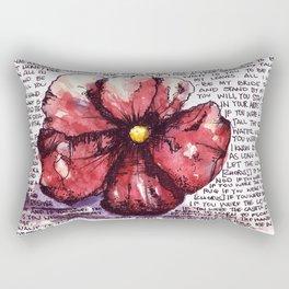 Juno Flower Rectangular Pillow