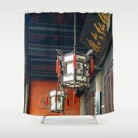 lanterns Shower Curtains featuring Chinese Lanterns by TenelArt