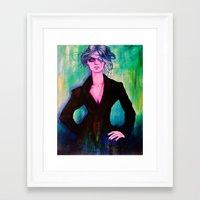 denver Framed Art Prints featuring Denver by Olga Noes