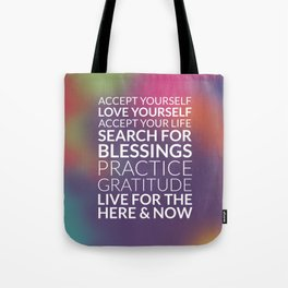 Recipe for Joy Inspirational Quote Tote Bag