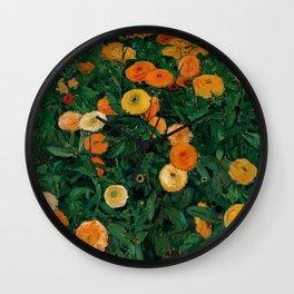 """Koloman (Kolo) Moser """"Marigolds"""" Wall Clock"""