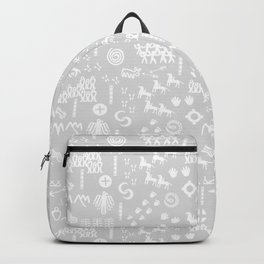 Peoples Story - White and Grey Backpack