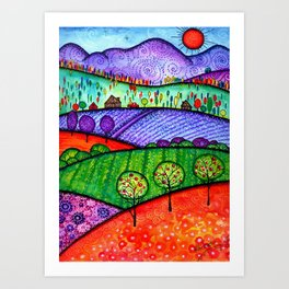 Landscape - Boone, North Carolina Art Print