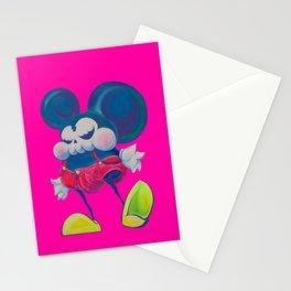 fatty skinny mickey skull Stationery Cards