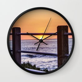 Un-Fenced ( La Jolla ) Wall Clock