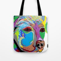 rottweiler Tote Bags featuring Rottweiler by EloiseArt