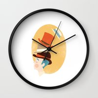 marx Wall Clocks featuring Hats by Zara Picken