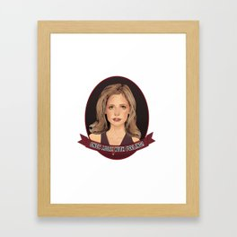 Buffy Summers - Once More with Feeling Framed Art Print