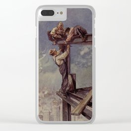 Engineering Wonders of the World 1909 - Building a sky-scraper Clear iPhone Case