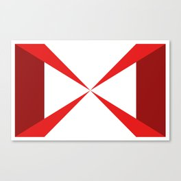 Simple Construction Red Canvas Print