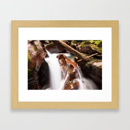 Avalanche Gorge Waterfall Framed Art Print