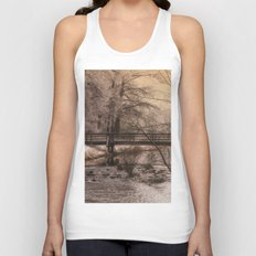 Dream time winter landscape Unisex Tank Top