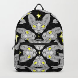 Sphynx Cat Black Pattern Backpack