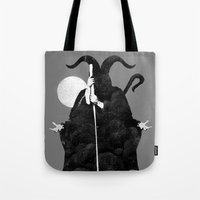 death Tote Bags featuring Death by Gurven