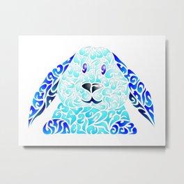 Blue Lapinou Metal Print
