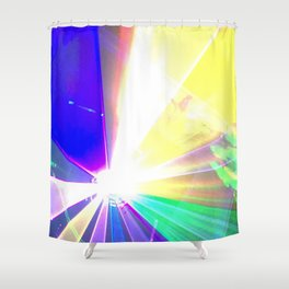 Coloured laser Shower Curtain