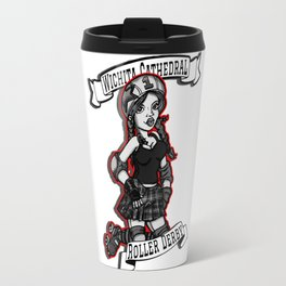 Roller Derby Girl at Wichita Cathedral Travel Mug