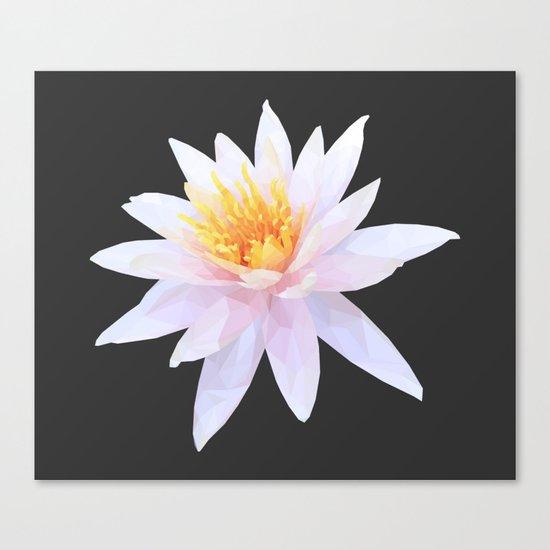 Geometric Lotus Flowers Canvas Print