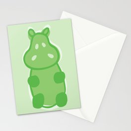 Gummy Hippo - Green Stationery Cards