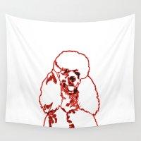 poodle Wall Tapestries featuring Poodle by Mike van der Hoorn