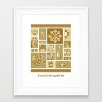 monster hunter Framed Art Prints featuring Monster Hunter Colorized Poster by DistortedShadow