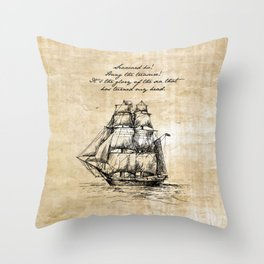 Treasure Island - Robert Louis Stevenson Throw Pillow