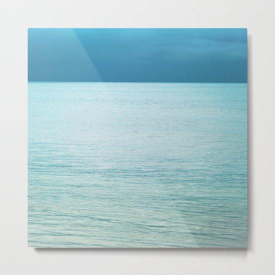 Softly the Sea Metal Print